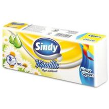 SINDY Papírzsebkendő 3rétegű 100db KAMILLÁS