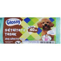 GLOSSY Kutyasétáltató tasak 20x30cm 12mikron 40db-os