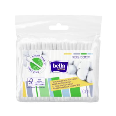 BELLA Cotton Fültisztító ut.160db-os Papír szárral F160-066