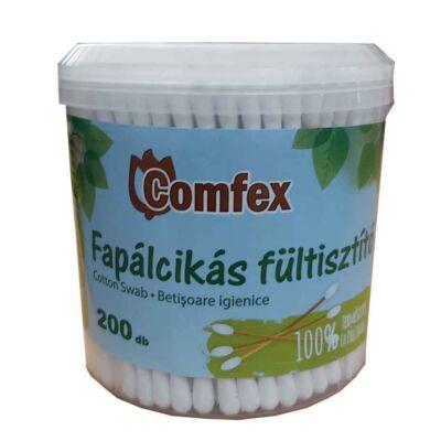 COMFEX Fültisztító fapálca 200db dobozos
