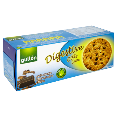 GULLON DIGESTIVE Zabpelyhes, korpás keksz étcsokival 425g
