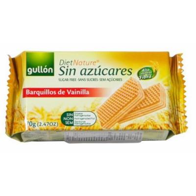 GULLON NÁPOLYI 70gr BARQUILLOS DIABEIKUS VANILIÁS