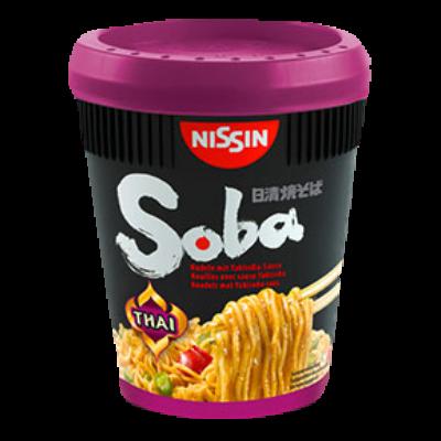 NISSIN SOBA CUP Sült tészta 87g THAI (lila)