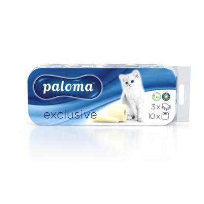 PALOMA Toalettpapír 10 tekercses 3 rétegű NATÚR       8/#