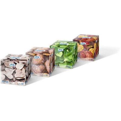 PERLA Kozmetikai kendő 60db 3rétegű Sensation Cube dobozos