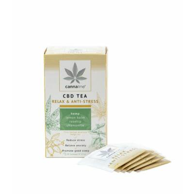 CANNALINE Tea filteres 20x1,5g RELAX&ANTI-STRESS CBD
